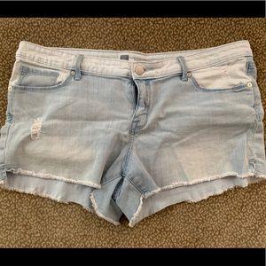 Mossimo light wash jean shorts